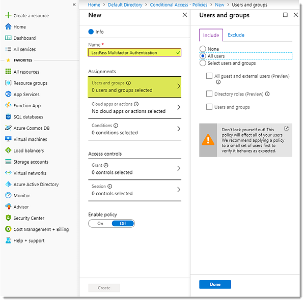 Assign users & groups in Azure AD portal