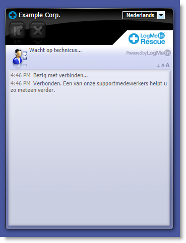 Standaard Instant Chat-interface