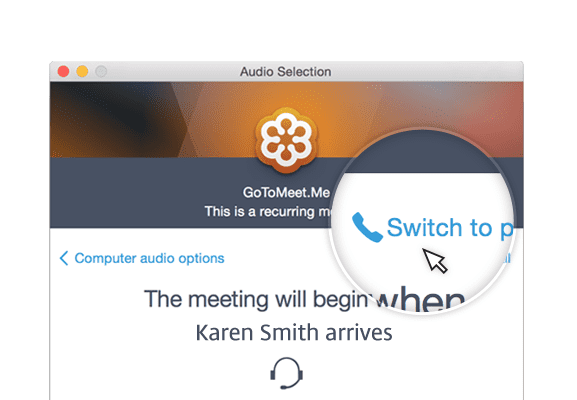 GoToMeeting Join Audio