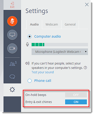 Enable/Disable On-Hold Beeps and Entry Chimes