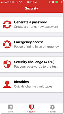 iOS Security Options