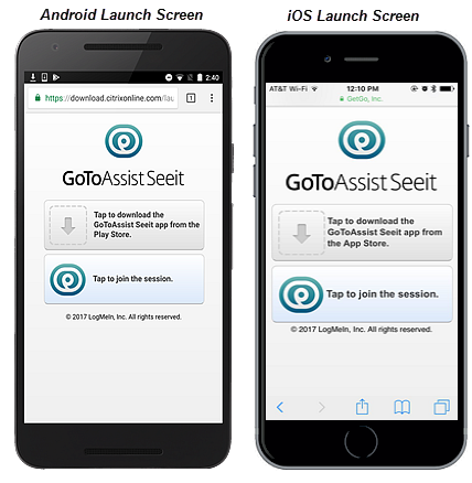 Join a GoToAssist Seeit Session
