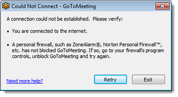 you are not connected error