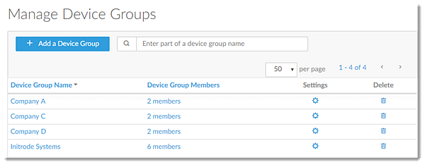 Manage Device Groups