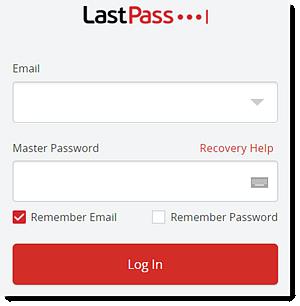Janela de login pela extensão do navegador da web