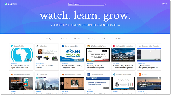 GoToStage Homepage