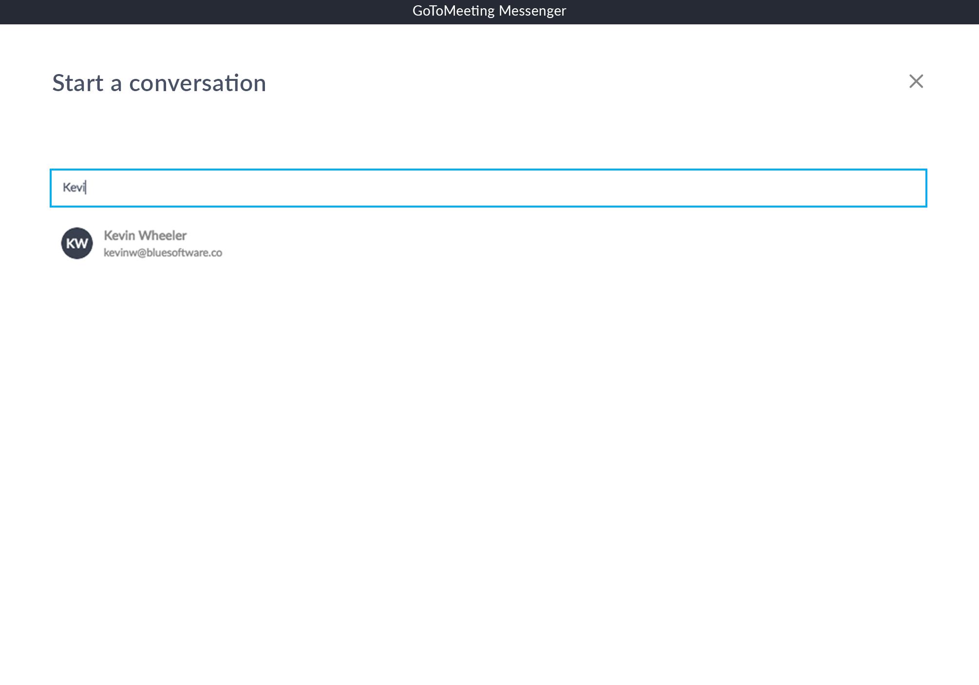 GoToMeeting Messenger Invite Contact