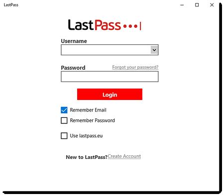 LastPass desktop app for Windows login