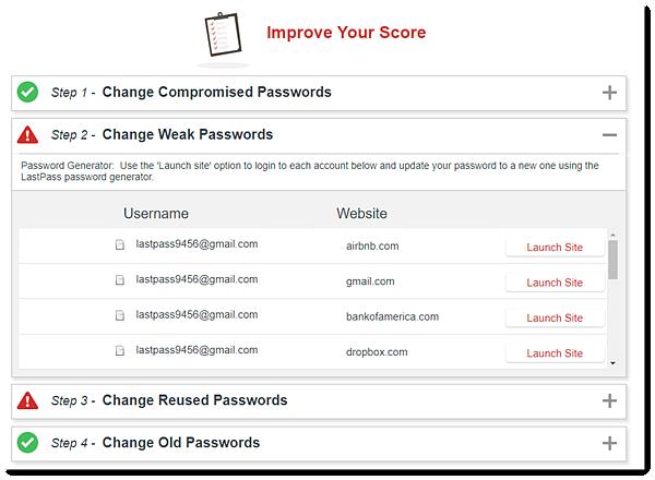 Security Challenge Score Improvements