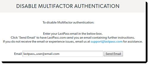 Desativar autenticação multifator