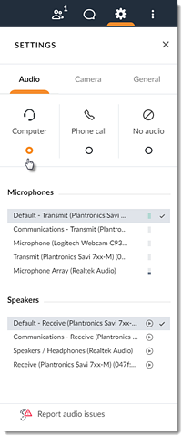 Why can't I connect to audio with my mic and speakers (VoIP)?