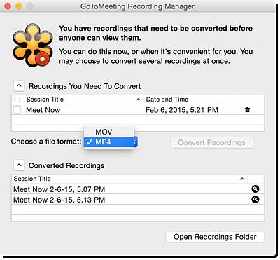 Convert a Session Recording