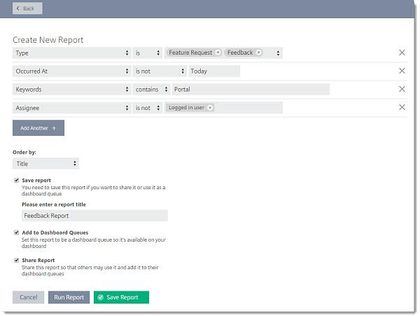 Create, Save, and Share Custom Reports