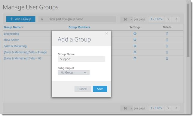 Add a user group