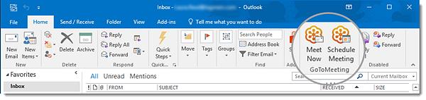 Start or schedule meetings in Outlook