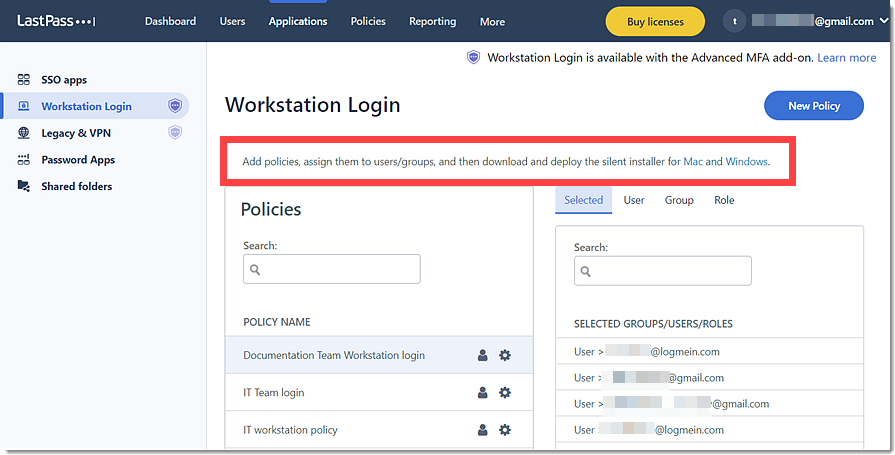 Download Workstation Login in Admin Console