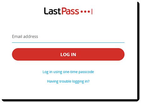 LastPass Business-aanmelding