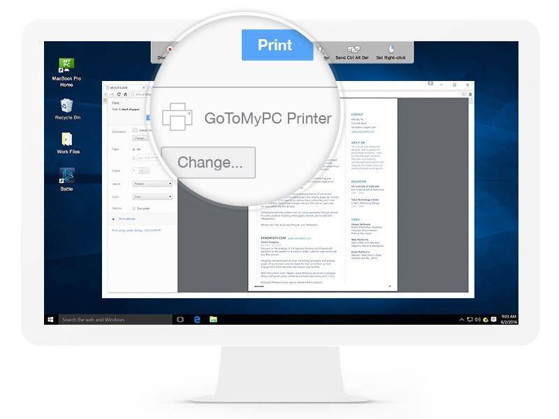 GoToMyPC Remote Print