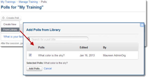 Create Polls in GoToTraining