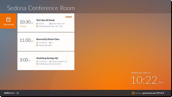 GoToRoom Home Screen