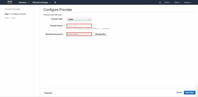 AWS IdP Provider