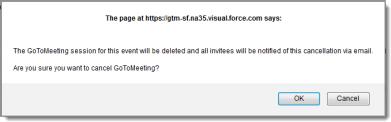 Update, cancel or delete meetings in Salesforce