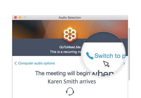 GoToMeeting Join Audio