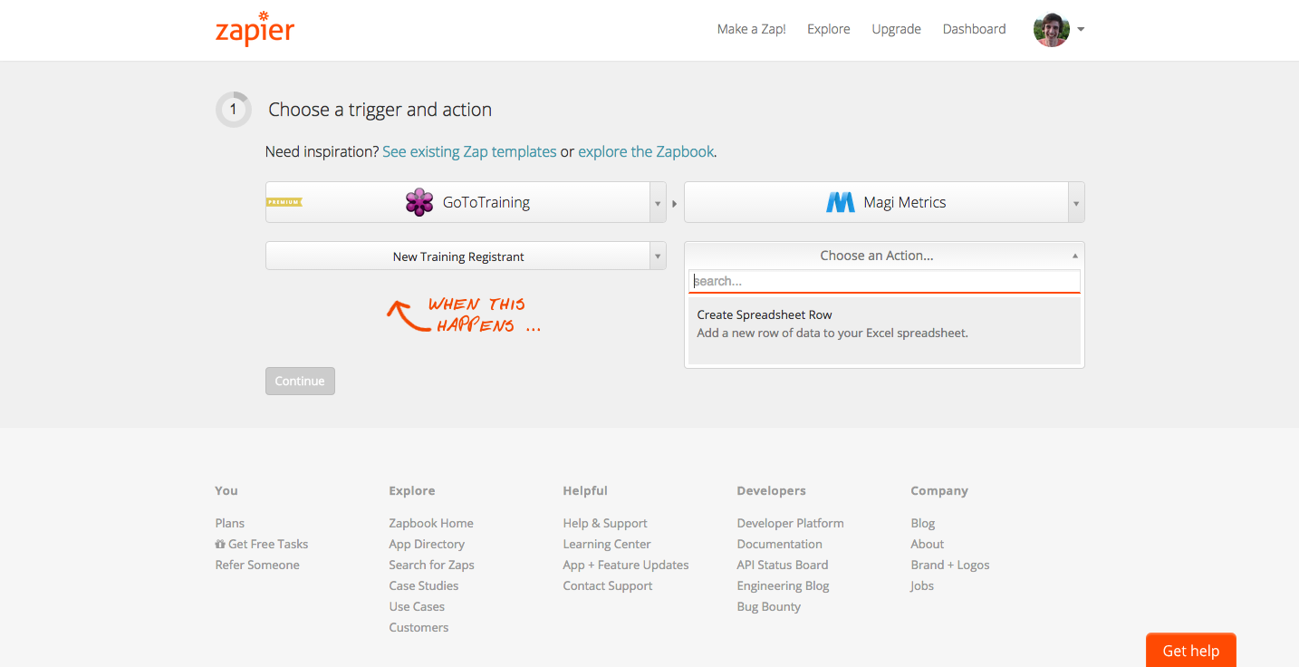 Zapier with GoToTraining Screenshot 1