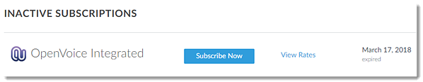 Subscribe after trial has expired