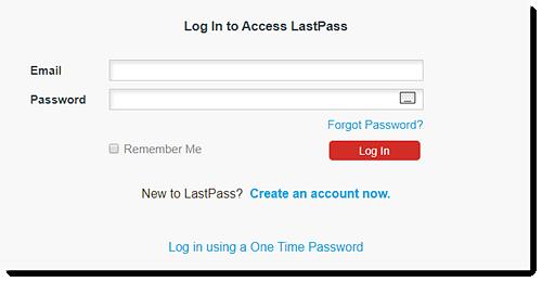 Website login window