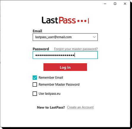 Aanmelden bij de LastPass-desktoptoepassing voor Windows