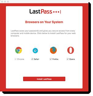 Browserauswahl für Mac-Installationsprogramm