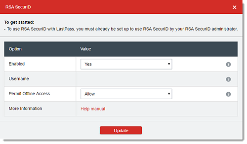 Use RSA SecurID Multifactor Authentication