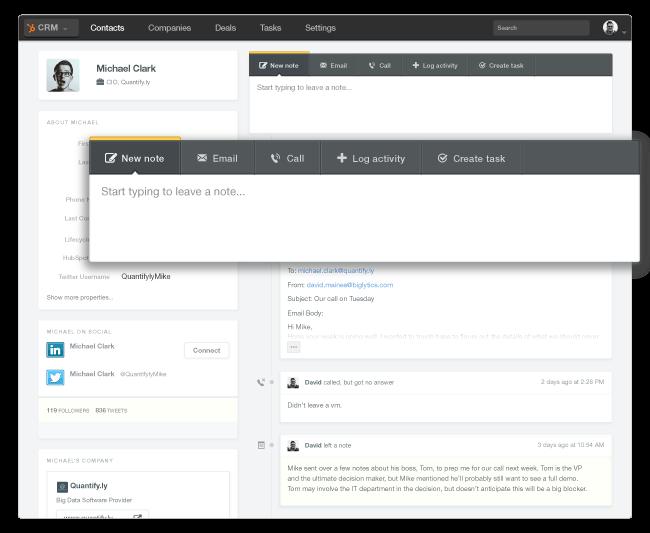 GoToWebinar & HubSpot CRM Screenshot