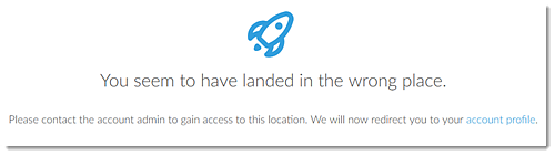No access to Billing Center