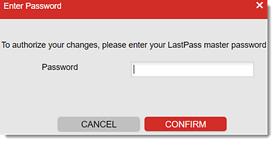 Enter your Master Password