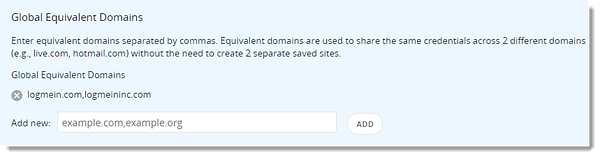 Add Global Equivalent Domains