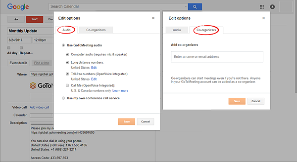 Start or Schedule Meetings from Google Calendar Using the Chrome Plug-In