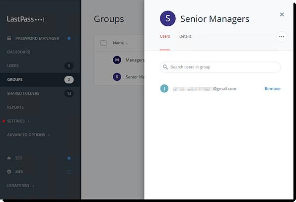 Groupe d'utilisateurs de la console d'administration Enterprise
