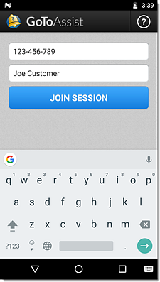 Provide Support for Customers Using GoToAssist Corporate for Android