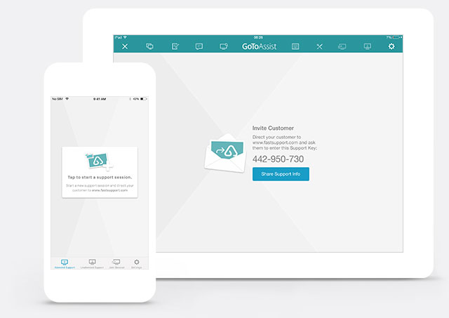 GoToAssist Devices Customer Home Page