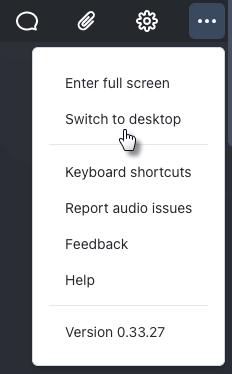 Switch to Desktop Button