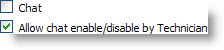 Chat disabled + Enable/Disable allowed