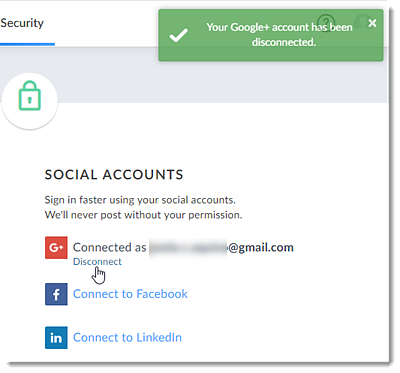 Disconnect Your Social Account