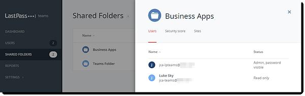Teams Admin Console Shared Folder Users