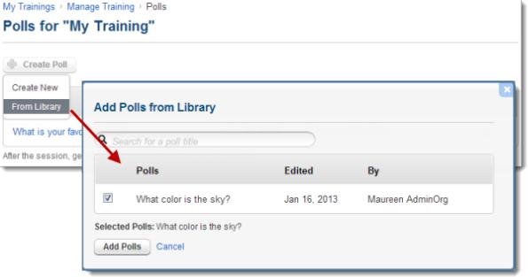 Create Polls in GoToTraining