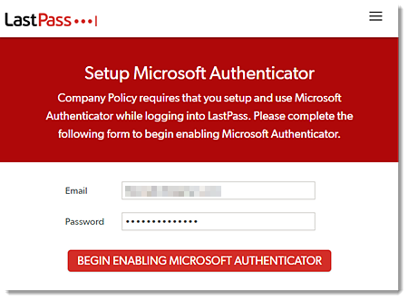 Configurar o Microsoft Authenticator