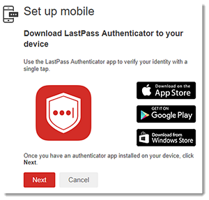 Use the LastPass Authenticator