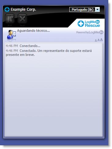 Interface padrão do Instant Chat