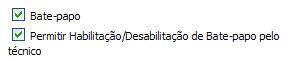 Bate-papo habilitado + Habilitar/Desabilitar permitido